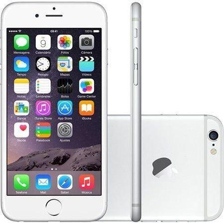 Smartphone Apple Iphone 6s 64gb Desbloqueado Silver - Iphone 6s Prata