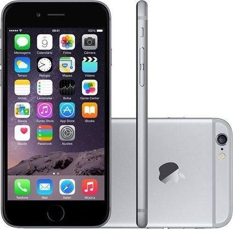 Smartphone Apple Iphone 6s 64gb Desbloqueado Space Gray - Iphone 6s Cinza Espacial