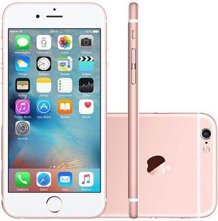 Smartphone Apple Iphone 6s 64gb Desbloqueado Rose Gold - Iphone 6s