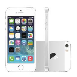 Iphone 5s 16gb Prata 4g Tela 4 Câmera 8mp Ios 9