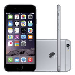 Iphone 6 64gb Cinza Espacial 4g Tela 4,7 Câmera 8mp Ios 9