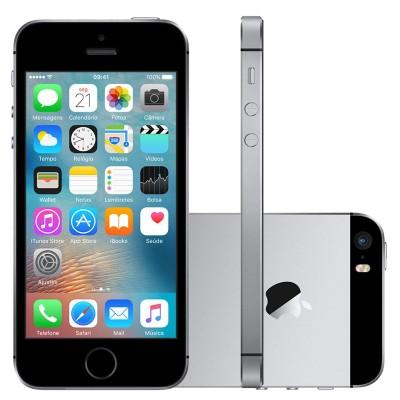 Iphone Se Apple 4g Ios9 16gb Câmera 12mp Tela Retina Hd 4.0, Cinza