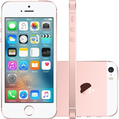 Iphone Se Apple 4g Ios9 16gb Câmera 12mp Tela Retina Hd 4.0, Ouro Rosa