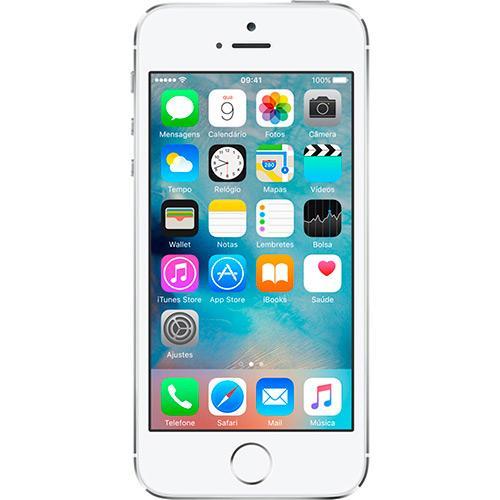 Iphone 5s 16gb Prata Tela 4 Ios 7 4g Câmera de 8mp - Apple  Cód.:l909004