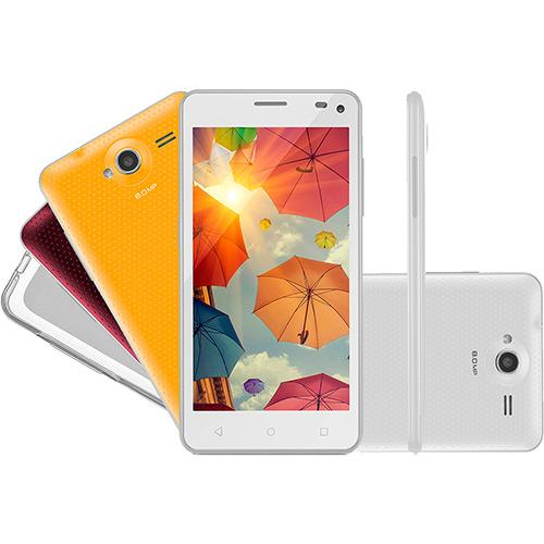 Smartphone Multilaser Ms50 Colors Dual Chip Android 5\ Quad-core 4 8gb 3g 8mp + 3 Cases - Branco