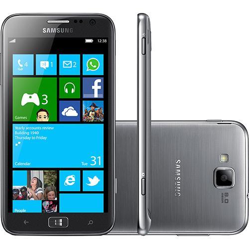 Smartphone Samsung Ativ S I8750 Desbloqueado Windows Phone Tela 4.8\ 16gb 3g Wi-fi Câmera 8mp - Prata