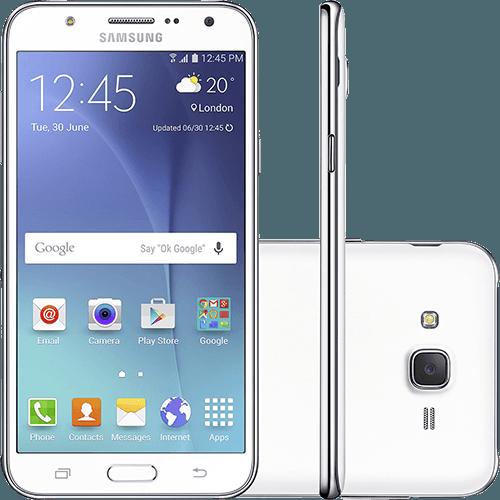 Smartphone Samsung Galaxy J7 Duos Dual Chip Android 5.1 Tela 5.5\ 16gb 4g Câmera 13mp - Branco