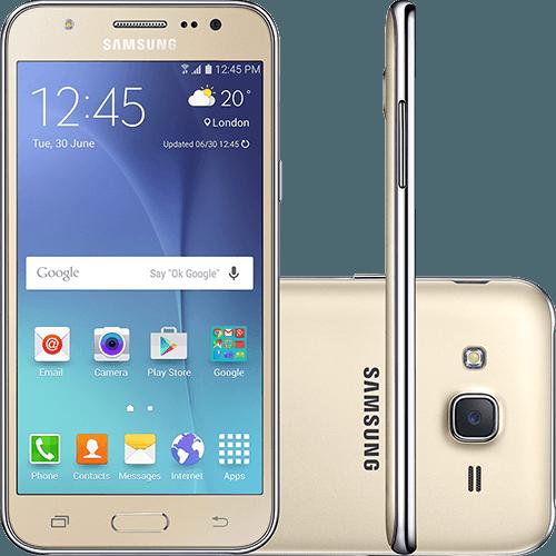 Smartphone Samsung Galaxy J5 Duos Dual Chip Android 5.1 Tela 5\ 16gb 4g Wi-fi Câmera 13mp - Dourado