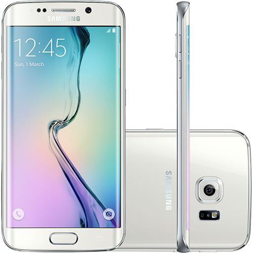 Smartphone Samsung Galaxy S6 Edge Desbloqueado Vivo Android 5.0 Tela 5.1\ 64gb 4g 16mp - Branco