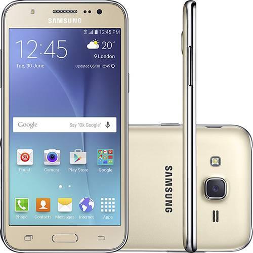 Smartphone Samsung Sm-j500 Galaxy J5 Dual Chip Android Tela 5\ 16gb 3g/4g/wi-fi Câmera 13mp - Dourado