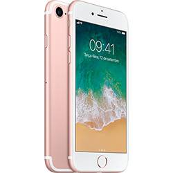 Iphone 7 128gb Ouro Rosa Desbloqueado Ios 10 Wi-fi + 4g Câmera 12mp - Apple