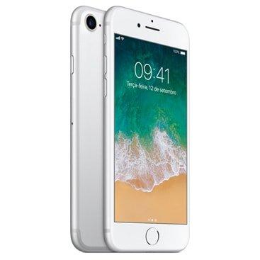 Iphone 7 Apple Prata 128gb, Desbloqueado - Mn932br/a