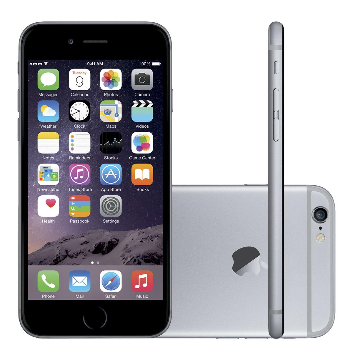 Iphone 6 16gb Cinza Espacial 4g Tela 4,7 Câmera 8mp Ios 8