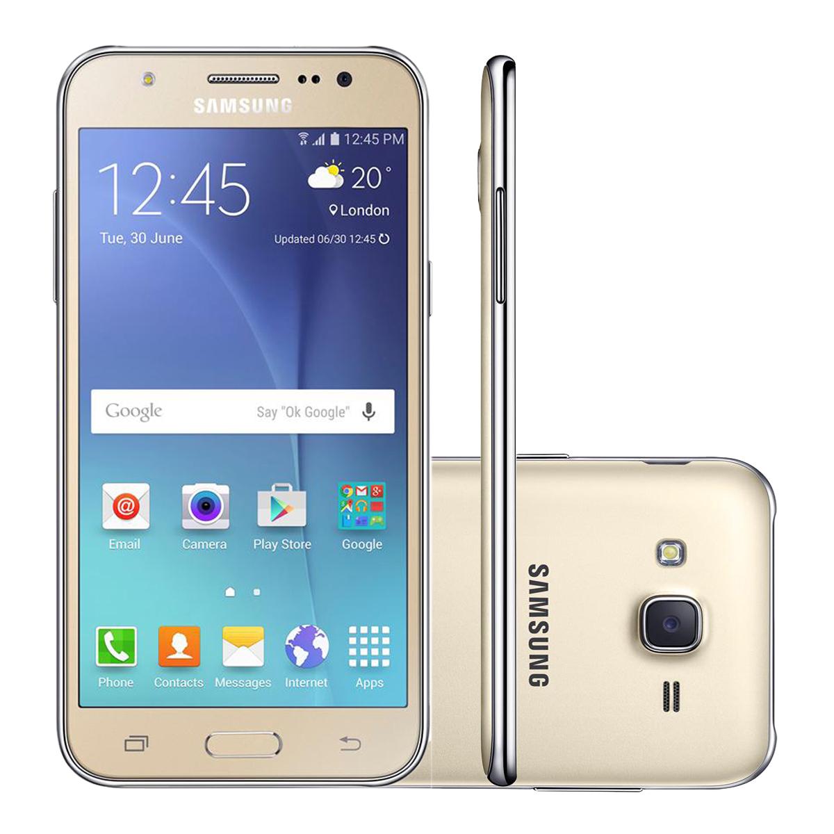 Smartphone Samsung Galaxy J5 Duos Smj500 16gb Dourado 4g Tela 5 Câmera 13mp Android 5.1