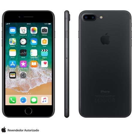 Iphone 7 Plus Preto, Com Tela de 5,5\u201d, 4g, 32 Gb e Câmera de 12 Mp - Mnqm2bz\/a Bivolt