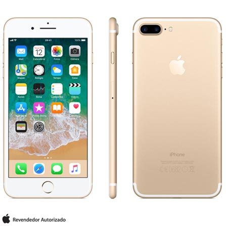 Iphone 7 Plus Dourado, Com Tela de 5,5\u201d, 4g, 128 Gb e Câmera de 12 Mp - Mn4q2bz\/a Bivolt