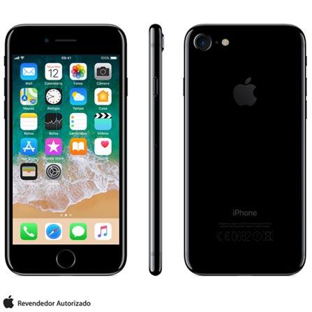 Iphone 7 Preto Brilhante Com Tela de 4,7\u201d, 4g, 128 Gb e Câmera de 12 Mp - Mn962br\/a Bivolt