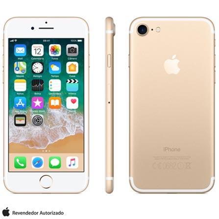 Iphone 7 Dourado Com Tela de 4,7\u201d, 4g, 128 Gb e Câmera de 12 Mp - Mn942br\/a Bivolt