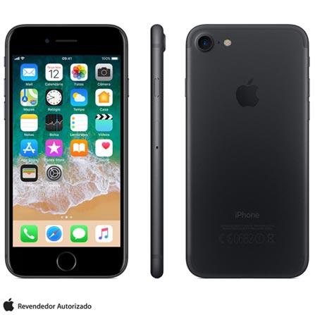 Iphone 7 Preto Matte Com Tela de 4,7\u201d, 4g, 128 Gb e Câmera de 12 Mp - Mn922br\/a Bivolt