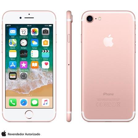 Iphone 7 Ouro Rosa Com Tela de 4,7\u201d, 4g, 128 Gb e Câmera de 12 Mp - Mn952br\/a Bivolt