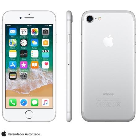 Iphone 7 Prata Com Tela de 4,7\u201d, 4g, 128 Gb e Câmera de 12 Mp - Mn932br\/a Bivolt